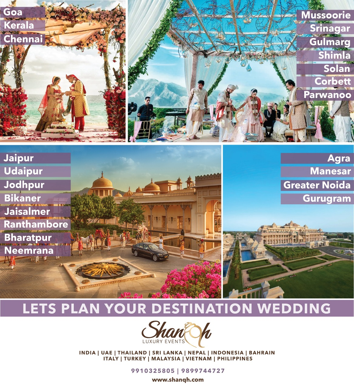 Some FAQ's You Need to Know to Plan a Destination Wedding!